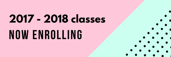 Now Enrolling for 2017 – 2018 Classes